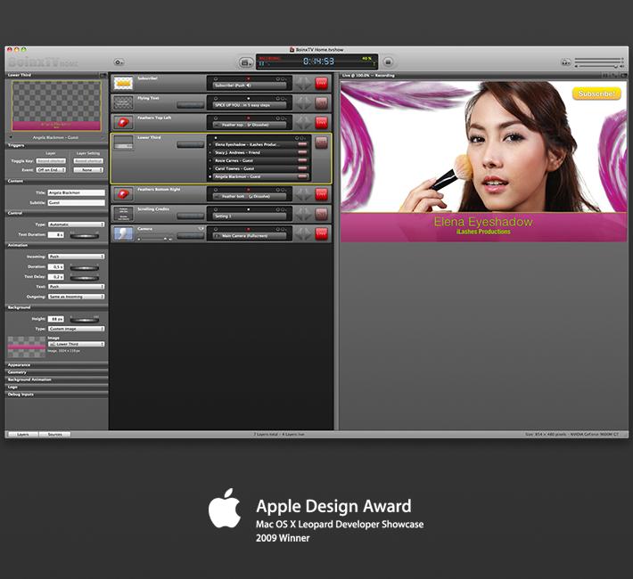 BoinxTV UI Design