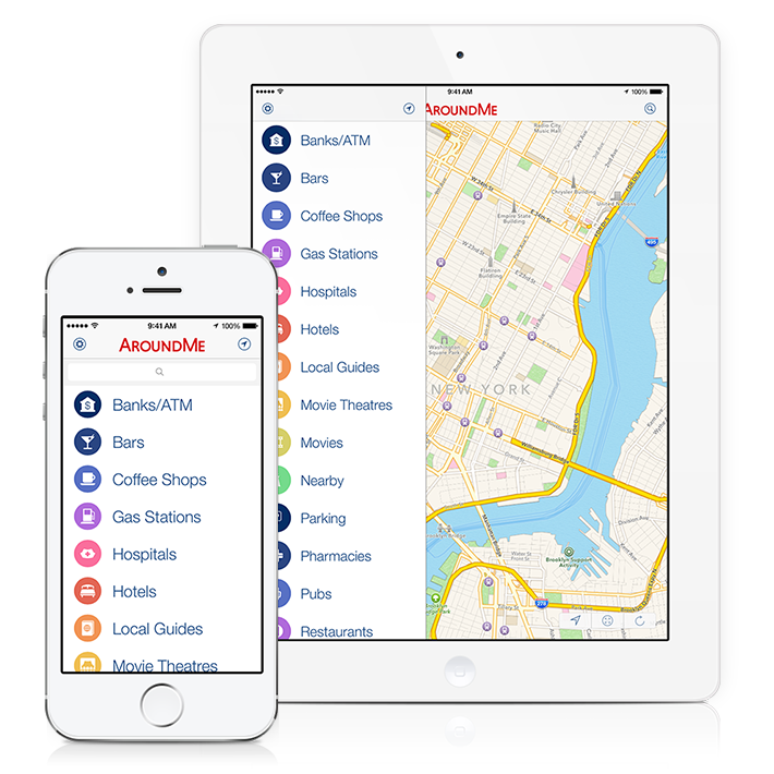 AroundMe iOS 7 redesign